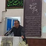 احسان شریعتی در مراسم سالگرد پوران شریعترضوی در مسجد مزینان