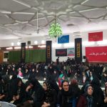 حضور اهالی مزینان در مسجد این روستا در مراسم سالگرد پوران شریعترضوی